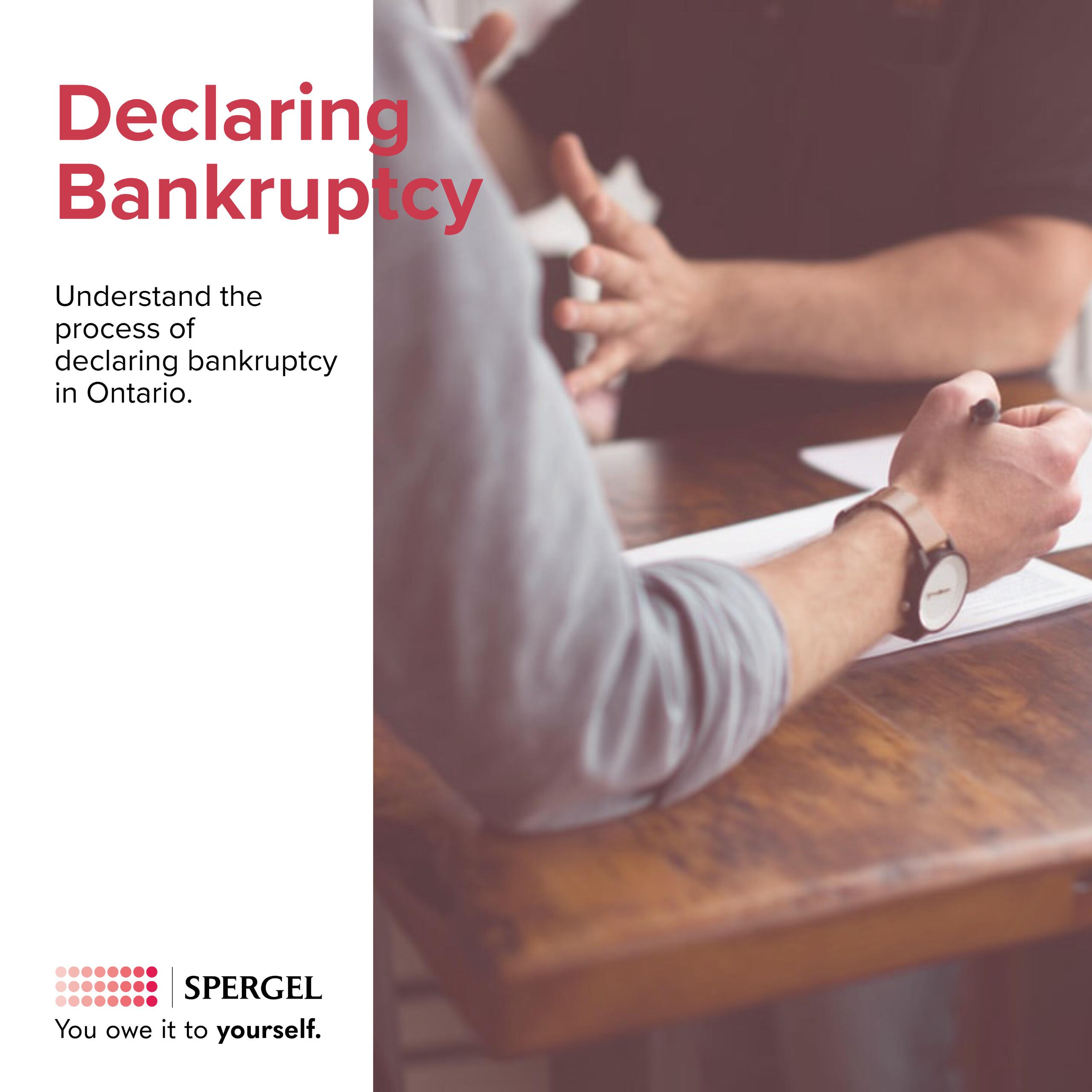 Understanding bankruptcy in ontario