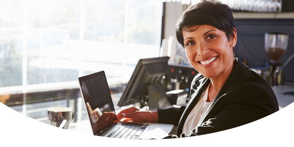 Woman Computer Smiling